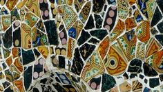 Gaudi mosaics, Parc Guell ,Barcelona