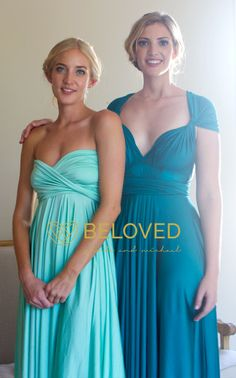 Convertible Infinity Dress Bridesmaid Dress by BelovedDresses | love the colours!