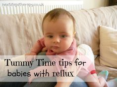 Tummy time tips for babies with reflux