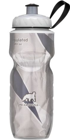 Polar Bottle Sport Insulated 20 oz Water Bottle  Black Pattern