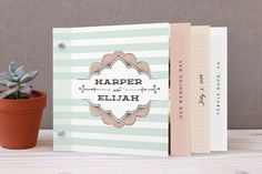 Love, Love, Love these! Striped Sweet Nothings Wedding Invitation Minibook™ Cards by Frooted Design at minted.com