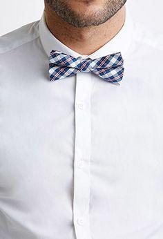 Plaid Cotton Bow Tie   21 MEN - 2000116252