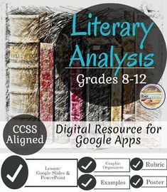 Literary Analysis Made Easy! Teach your students this easy step-by-step process for developing a rich, insightful, and well supported literary analysis. Breaking down this challenging process for students allows for further depth in each key area of a quality response!