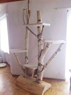 Bauen on pinterest cat tree branches and tree shelf - Baumstamm kissen ...