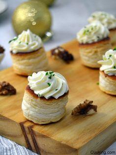 Volovanes de mousse de queso de cabra y manzana | Cuuking!