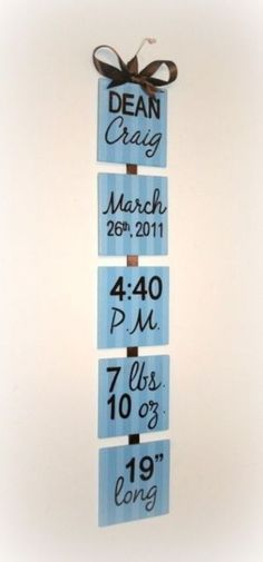 cute idea for baby room. I'd add baby picture to the top