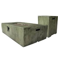 Weathered Wood Gas Fire Pit Table with Propane Tank Protector, Green(Magnesium Oxide), Outdoor Décor Fire Pit Table Set, Propane Fire Pit Table, Wood Burning Fires, Gas Fires, Rectangular Gas Fire Pit, Fire Pit Art, Natural Gas Fire Pit, Magnesium Oxide, Steel Fire Pit