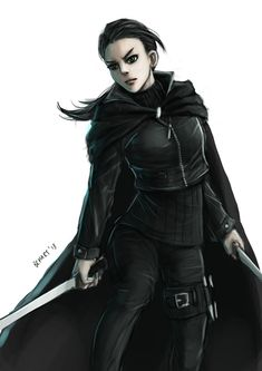 f Halfling Rogue Thief R: The Girl in Black by bchart