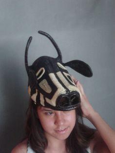 Embera tribe woven cow mask, Panama