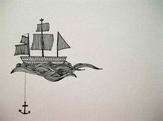 boat and anchor tattoo