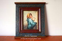 La Virgen con el niño Decoupage, Home Decor, Picture Walls, Manualidades, Decoration Home, Room Decor, Interior Decorating