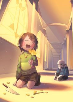 Pacific end? // Or Chara just stripped the petals off of Flowey.