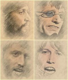 The Gibb Brothers - Artwork by Juanca Ravelo