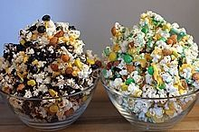 Instead of Game Day Popcorn Party Mix-I'll make it School colors for Graduation.
