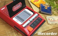 Speaker looks like old cassette player that plays music with iPhone: カセット代わりに iPhone を挿入!レトロなカセットデッキ型スピーカー登場