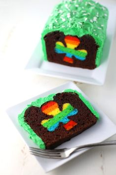We've gathered up a pot full of gold recipes for you to celebrate St. Patrick's Day like this Peek-A-Boo St. Patrick's Day Cake by Mom Loves Baking!