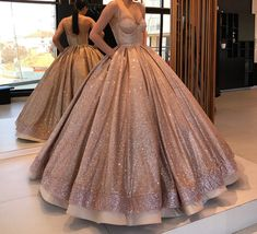 Spaghetti Straps Sparkly Open Back Long Ball Gown Prom Dresses Quinceanera Dresses Ball Gowns Prom, Prom Party Dresses, Quinceanera Dresses, Ball Dresses, 15 Dresses, Occasion Dresses, Quinceanera Party, Elegant Prom Dresses, Sweet 16 Dresses