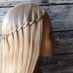 By: # Braids videos frisuren Cool hair tutorial! Easy Hairstyles For Long Hair, Braids For Long Hair, Braided Hairstyles, Witchy Hairstyles, Cool Hairstyles For School, Hair Up Styles, Medium Hair Styles, Hair Styler, Hair Videos