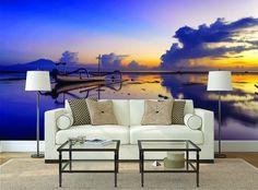 Amazing Sunset Sunrise See Water Wall Mural Photo Wallpaper GIANT WALL DECOR | eBay