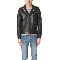 The Kooples Thick Lamb Leather Jacket (6.955 VEF) ❤ liked on Polyvore featuring men's fashion, men's clothing, men's outerwear, men's jackets, black, mens zip up jacket, mens lambskin leather jacket and mens sherpa lined jacket
