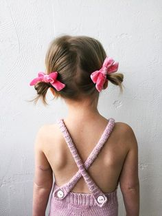 Jessica Garvin x Free Babes // Bubblegum Hand-Tied Pigtail Set - Free Babes Handmade. Classic bows for your little girls free spirited style. Handmade with love in the USA and guaranteed for life. Cute Kids Fashion, Little Fashion, Baby Girl Fashion, Bow Image, Handmade Hair Bows, Little Girl Hairstyles, Diy For Kids, Hair Clips, Little Girls