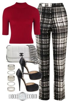 """""""Untitled #286"""" by foreverdreamt ❤ liked on Polyvore featuring Topshop, Chanel, Forever 21, Giuseppe Zanotti and Burberry"""