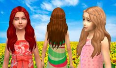 Sensitive Hair for Girls at My Stuff via Sims 4 Updates