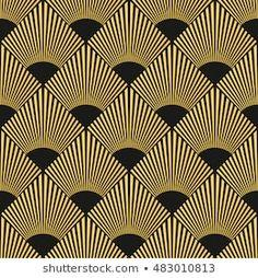 Motif art déco harmonieux: image vectorielle de stock (libre de droits) 483010813