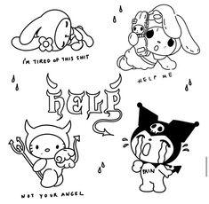 Kritzelei Tattoo, Grunge Tattoo, Doodle Tattoo, Tattoo Sketches, Tattoo Drawings, Cute Drawings, Art Sketches, Mini Tattoos, Small Tattoos