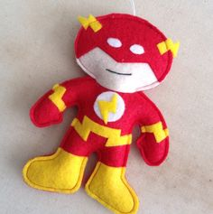 Flash Felt Ornament by HebCrafts on Etsy