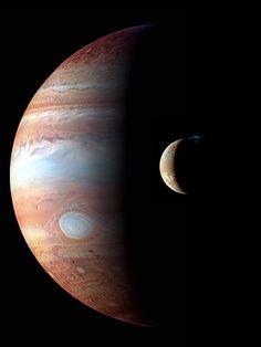 #Jupiter and #Io  Via Tumblr  #Astronomy #night #sky #star