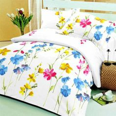 Happy, Sunny  Serene! -  Beautiful #Double #BedSheet With Two #PillowCovers
