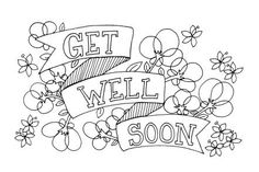 create masterpiece coloring pages | Get Well Soon Doodle coloring page | Free Printable ...