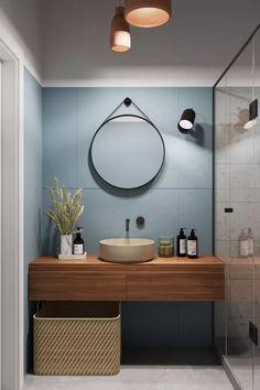 Mid Century Modern Bathroom, Modern Bathroom Design, Bathroom Interior Design, Bathroom Designs, Minimal Bathroom, Modern Bathrooms, Modern Interior, Simple Bathroom, Interior Architecture