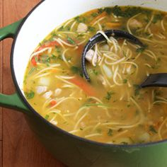 Simple Russian Soup with seasoned meat.