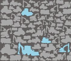Boys toys grey blue fabric by smuk on Spoonflower - custom fabric