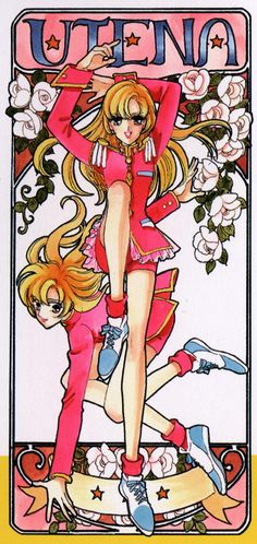 "Art from ""Revolutionary Girl Utena"" series by manga artist Chiho Saito."