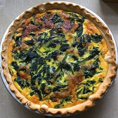 """This frozen-food-friendly quiche makes a beautiful brunch meal or """"breakfast for dinner"""" for all. Source: Kim Stewart"""