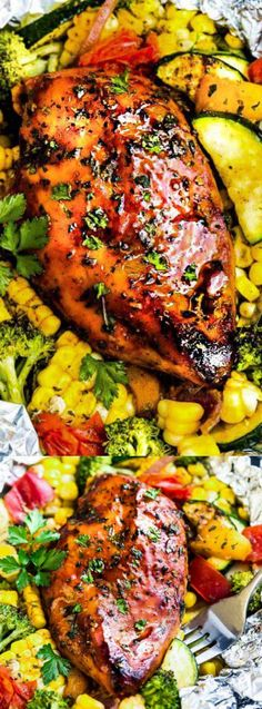 These Grilled Honey Barbecue Chicken Foil Packets from The Recipe Critic are the easiest summer meal! Perfectly tender chicken is grilled with fresh summer veggies and coated in a delicious sweet and tangy sauce!