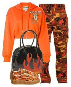 """""""Untitled #1820"""" by palemermaid ❤ liked on Polyvore featuring Moschino, Bisadora and Puma"""