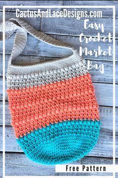 Crochet Hobo Bag, Crochet Beach Bags, Free Crochet Bag, Crochet Market Bag, Quick Crochet, Crochet Bags, Crochet Baskets, Beginner Crochet, Crochet Handbags