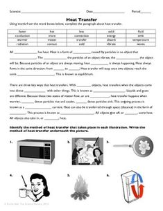 worksheet heat transfer worksheet hunterhq free printables worksheets for students. Black Bedroom Furniture Sets. Home Design Ideas