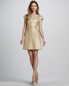 Alice + Olivia Elise Metallic Tweed Dress - Neiman Marcus