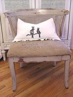 another pic of the burlap sack chair