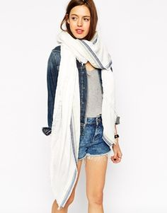 ASOS+Oversized+Scarf+With+Aztec+Trim+Detail