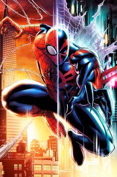 Superior Spider-Man and Spider-Man 2099 by Ryan Stegman.