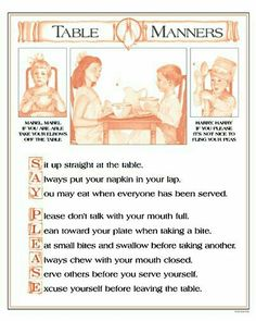 Basic Parenting Etiquette Rules That Should Never Be Broken Sue Keller Mabels Manners My Mom Would Say The Mabel Rhyme At Table All Time