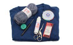 Cómo decorar una camiseta con restos de lana - costurea.es/blog/