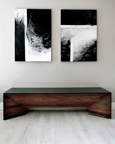 Love the bench, as found on the Wabi Sabi Blog