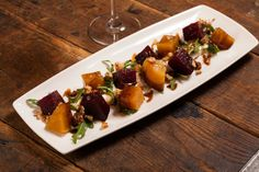 Roasted Beets & Whipped Goat Cheese - Arugula, Candied Walnuts, Balsamic Glaze, Extra Virgin Olive Oil chwinery.com